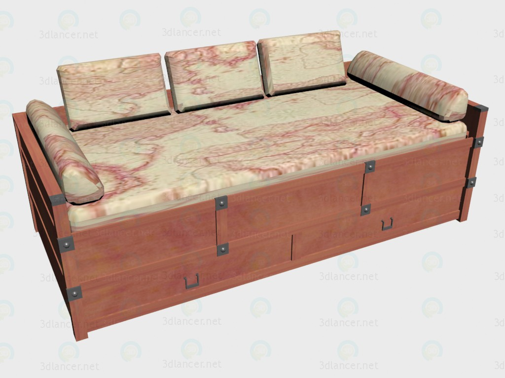 3d model Sofa bed 90x200 - preview