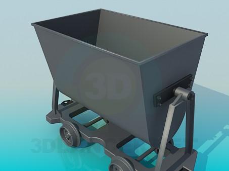 3d model Carro en la mina - vista previa