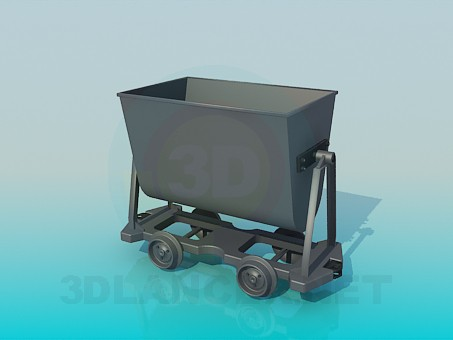 3d model Trolley in the mine - preview