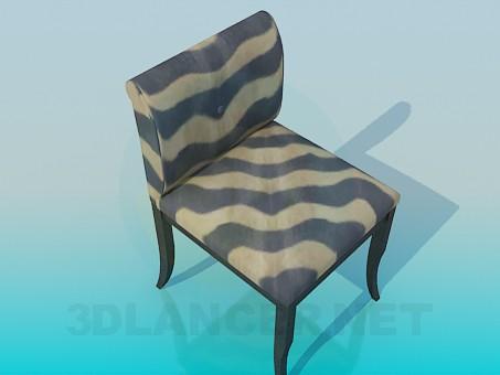 modelo 3D Silla de rayas - escuchar