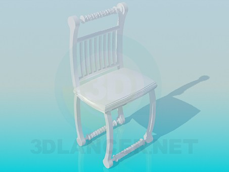 3d model Carved stool - preview