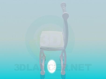 3d модель Різьблений стілець – превью