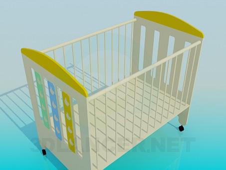 3d модель Кровать детская – превью