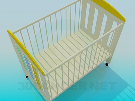 3d model Nursery bed - preview