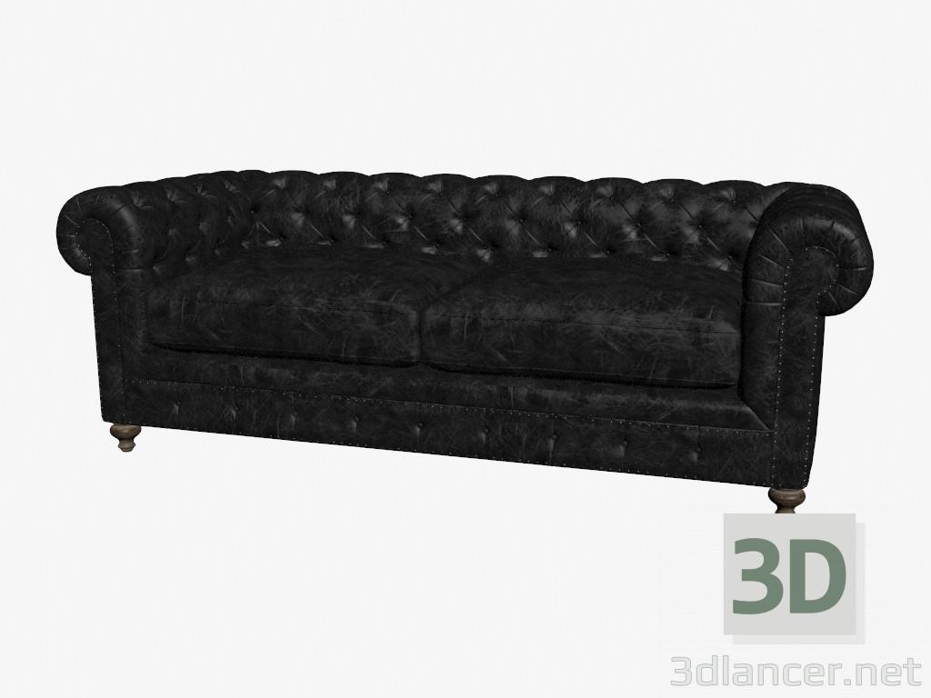 3d modell ledersofa doppeltes 90 39 39 club leather sofa 7842 3009 st vom hersteller curations. Black Bedroom Furniture Sets. Home Design Ideas
