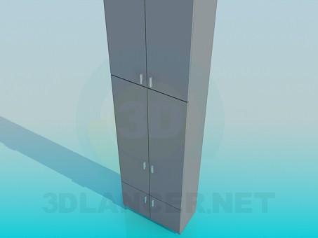 3d моделирование Шкафчик в офис модель скачать бесплатно