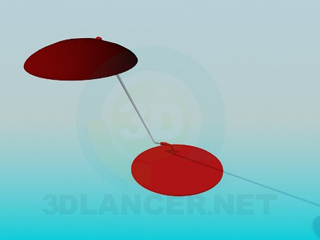 3d model Table lamp on the long leg - preview