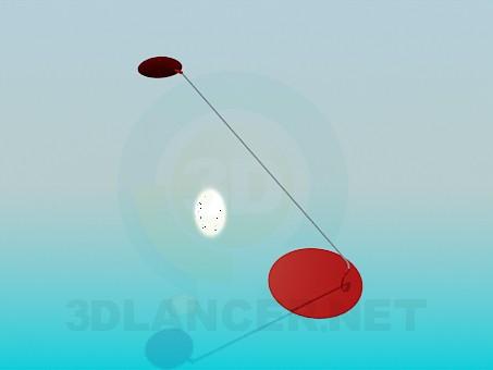 3d модель Настольная лампа на длинной ножке – превью