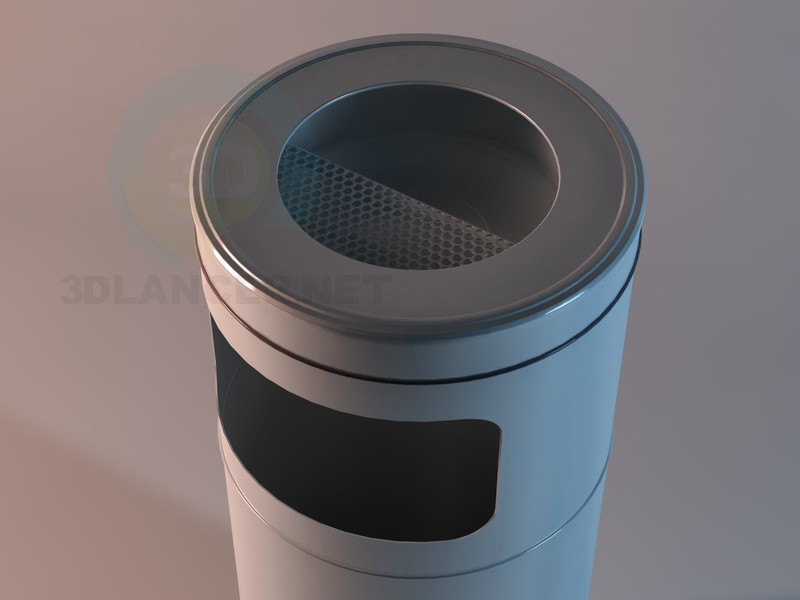 3d model Garbage can Spencer - preview
