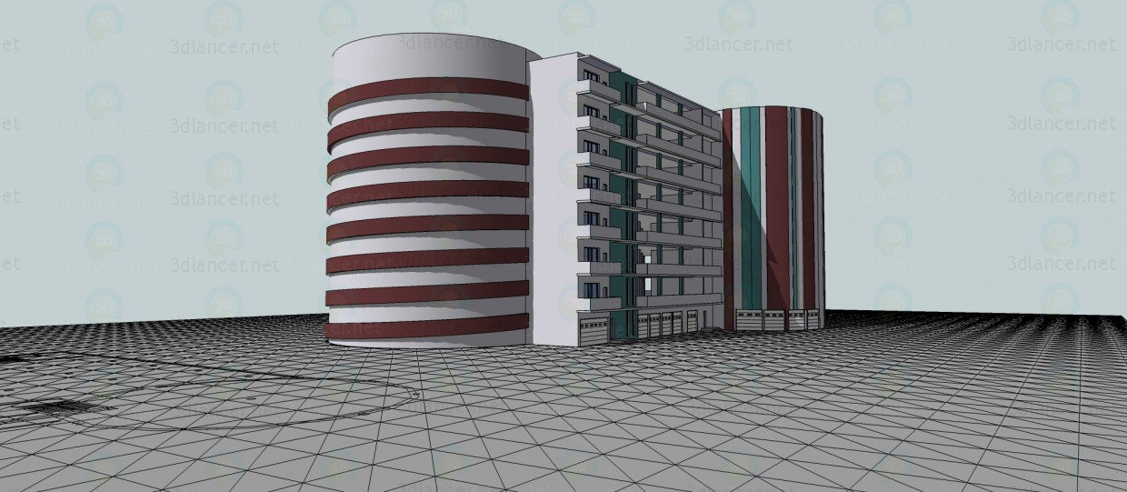3d modeling Parking for 300 cars model free download