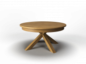 Round folding table solid oak (round folding table made of solid oak)