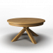 3d Round folding table solid oak (round folding table made of solid oak) model buy - render