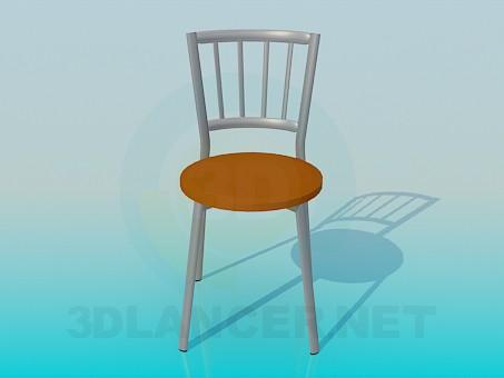 3d модель Алюмінієвий стілець з круглим сидінням – превью
