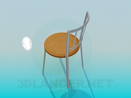 3d model Aluminium chair with round seat - preview