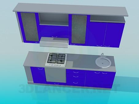 3d модель Маленький кухонный гарнитур – превью