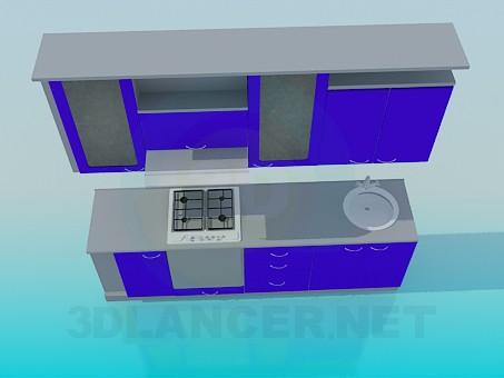 modelo 3D Set de cocina - escuchar