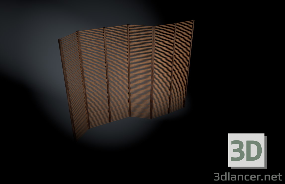 3d model wind shield - preview
