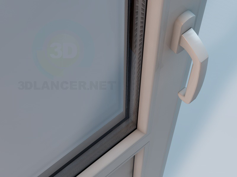 3d model plastic balcony doors in the style of high tech for Balcony models