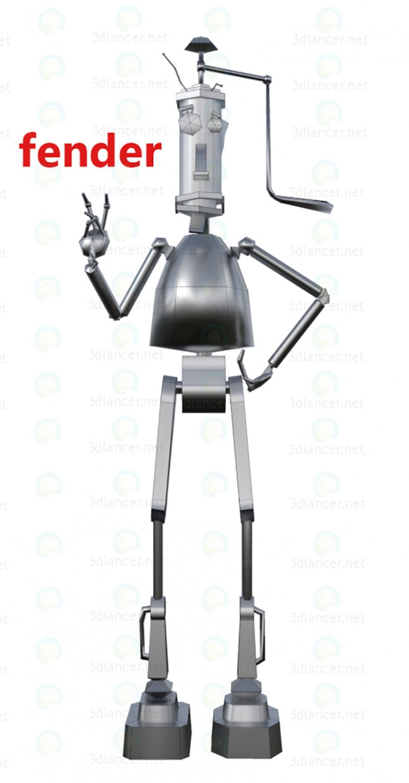 modelo 3D robot fender - escuchar