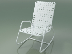 InOut Rocking Chair (809, White Lacquered Aluminum)