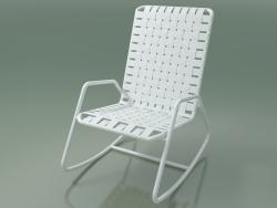 Sedia a dondolo InOut (809, alluminio laccato bianco)