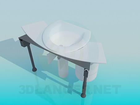 3d модель Раковина з тумбою – превью