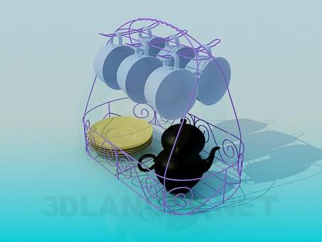 3d модель Набор для кофе – превью