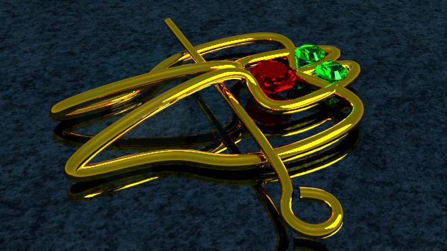 3d model barrette - preview