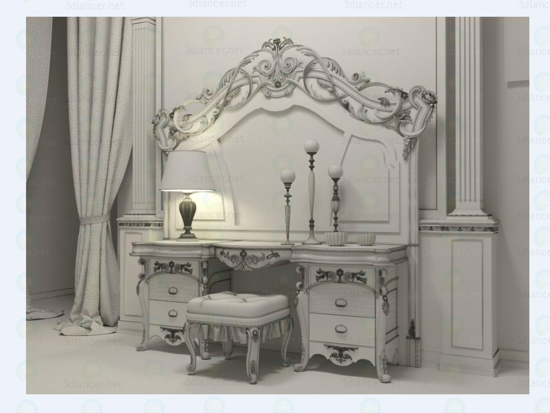 3d Туалетный столик модель купить - ракурс
