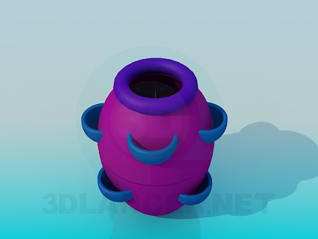 3d model Flower pot - preview