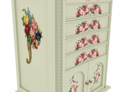 Chest of drawers in Provence style with weaving