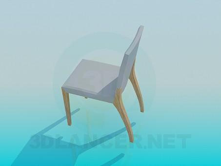 3d модель Стул на деревянных ножках – превью