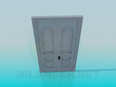 3d модель Входная двойная дверь – превью