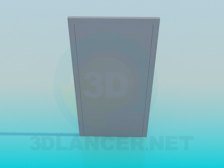 3d model Front double door - preview