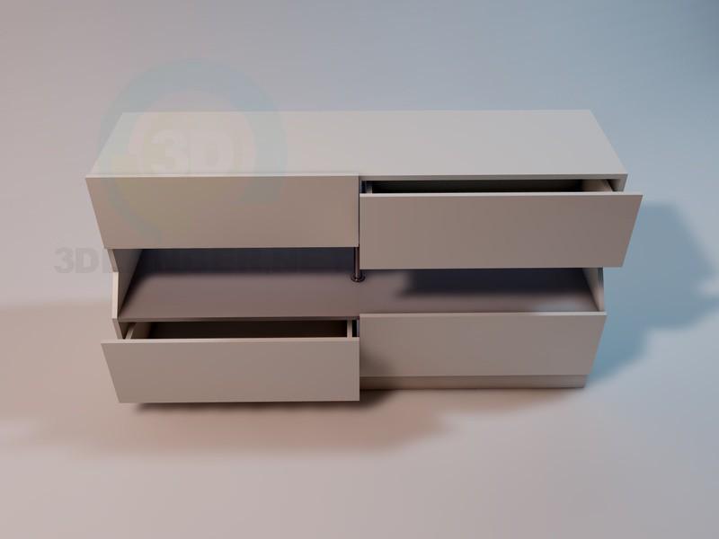3d модель Тумба-витрина – превью