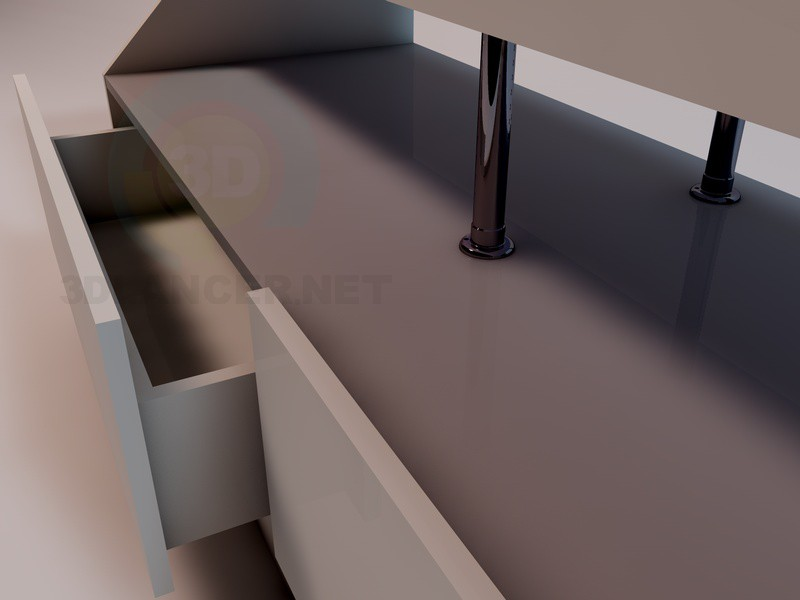 3d модель Тумба-вітрина – превью