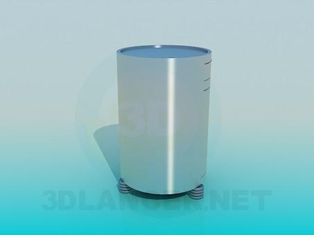 modelo 3D Armario metal redondo - escuchar