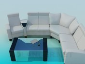 Área de estar com mesa