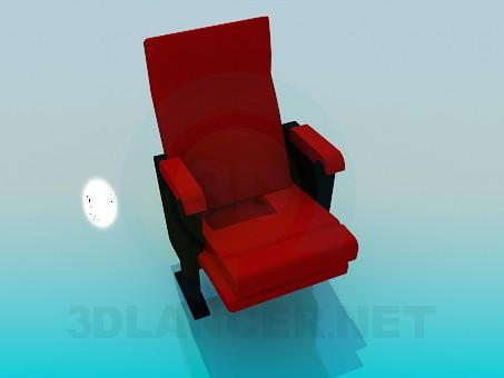 3d модель Крісло на двох ніжках – превью
