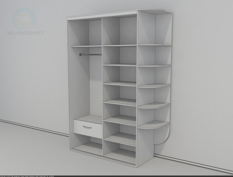 3d моделювання Простий шафа купе модель завантажити безкоштовно
