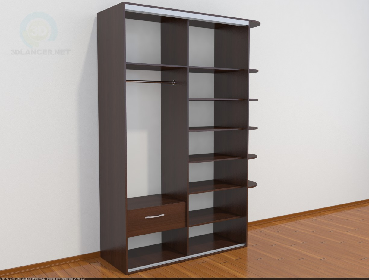 3d model Simple cupboard - preview