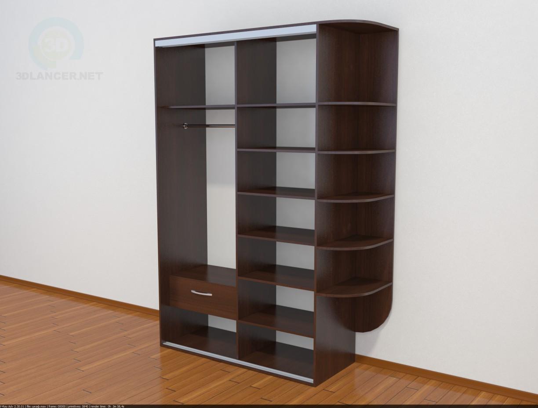 3d модель Простой шкаф купе – превью