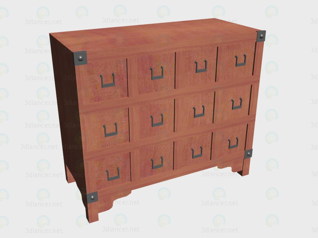 3d model Chest of drawers VOX - preview