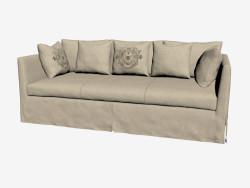 Triple sofa, in classic style (light)