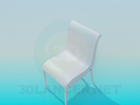 3d modeling White chair model free download