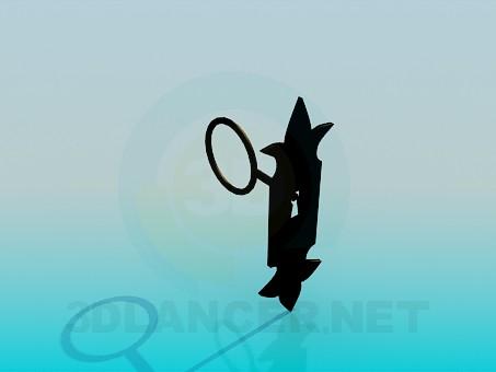 3d модель Замкова щілина з ключем – превью