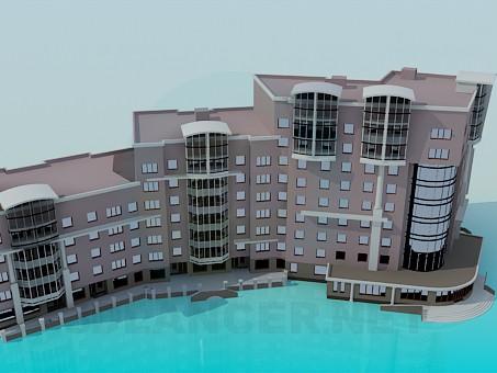 modelo 3D Comunidad residencial - escuchar