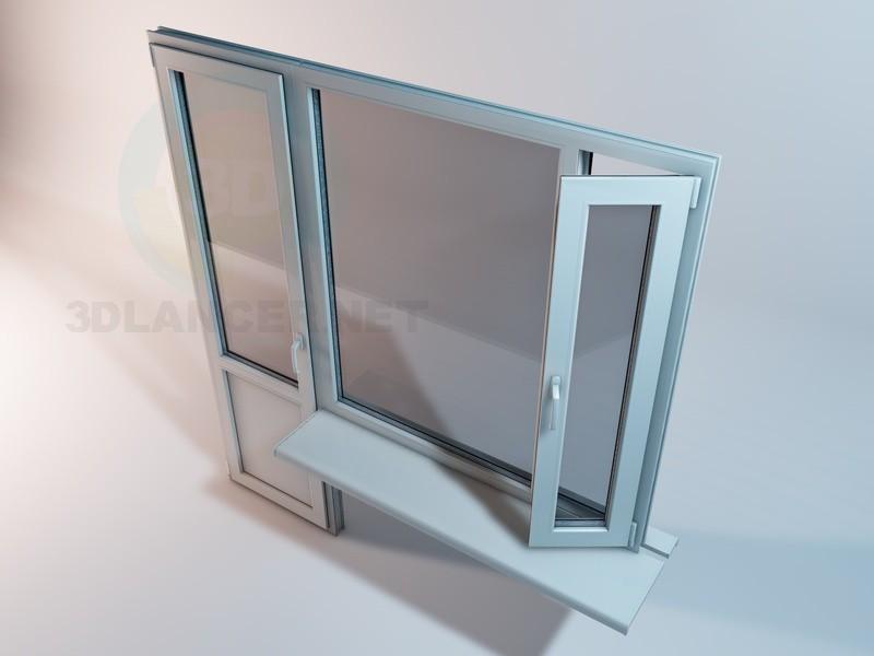 modelo 3D Bloque de plástico del balcón - escuchar