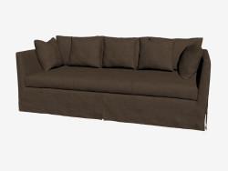 Triple sofa, in classic style (dark)