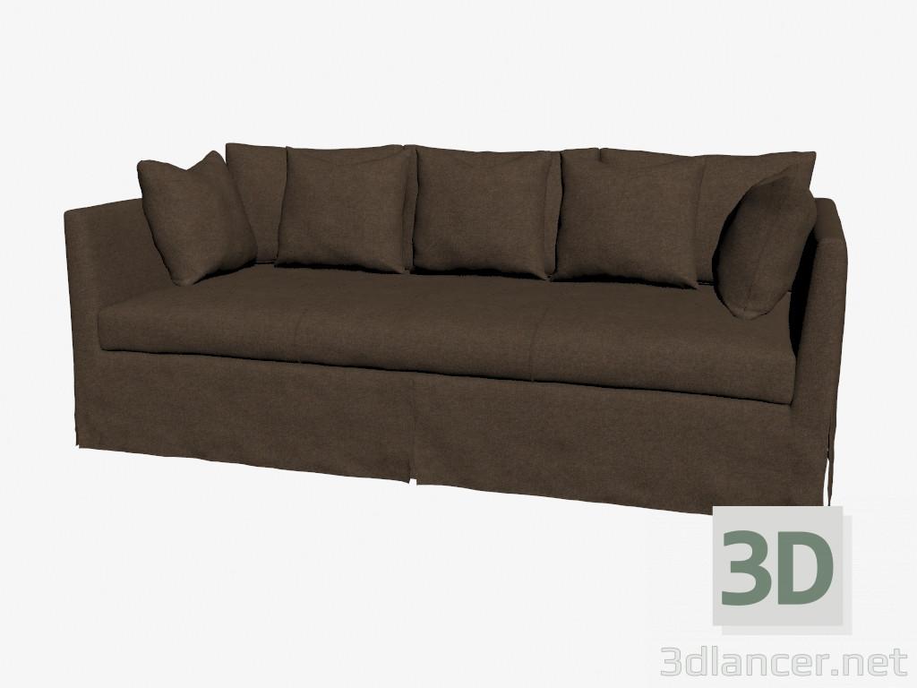 Modelo 3d sof triple en estilo cl sico oscuro del for Sofas estilo clasico
